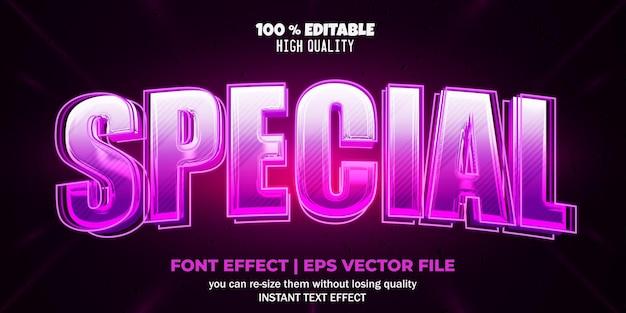 Stile di testo speciale effetto carattere modificabile