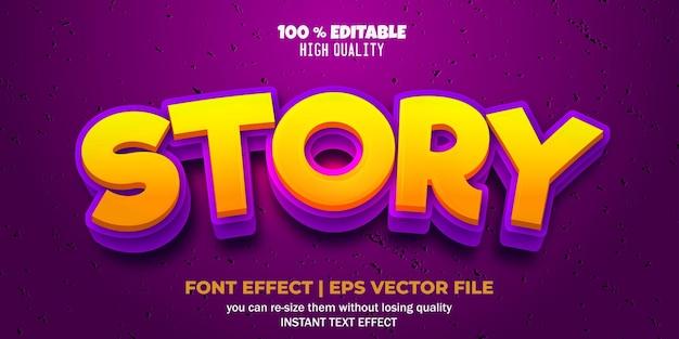 Stile di testo della storia con effetto carattere modificabile