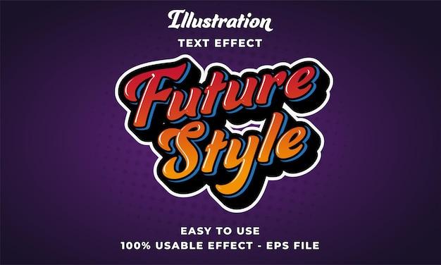 Effetto di testo vettoriale modificabile in stile futuro con design in stile moderno