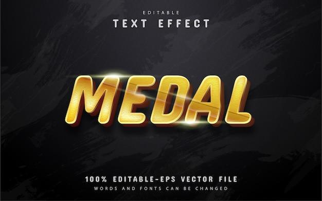 Effetto testo modificabile medaglia d'oro