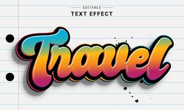Effetto testo graffiti modificabile per illustrator