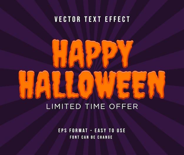 Effetto testo halloween modificabile