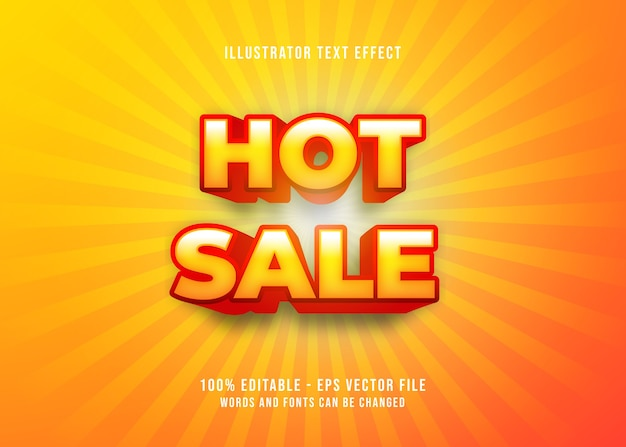Effetto di testo di vendita calda modificabile