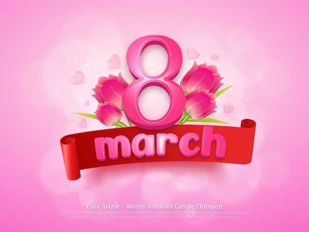 Modello di progettazione sfondo giorno delle donne di marzo modificabile