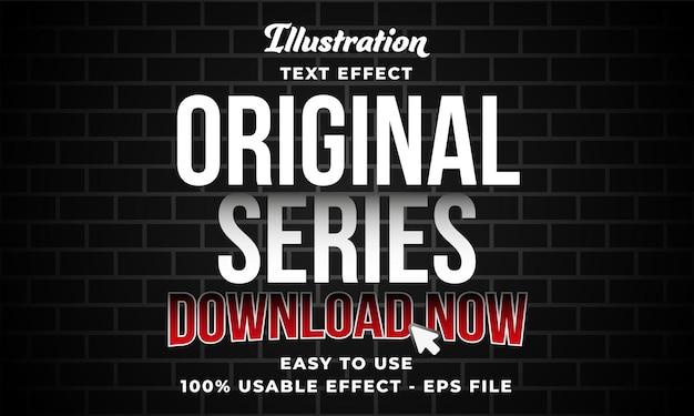 Effetto di testo vettoriale serie originale modificabile con stile moderno