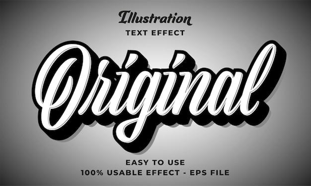 Effetto di testo vettoriale originale modificabile con design in stile moderno