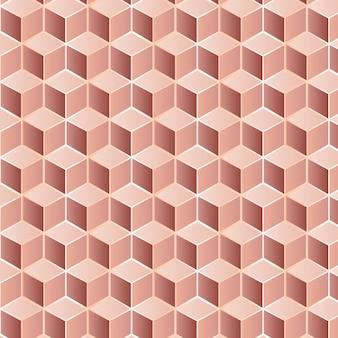 Modello senza cuciture modificabile fatto di quadrati d'oro rosa
