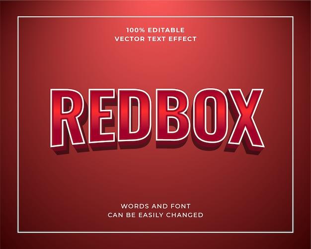 Effetto di testo redbox cinema rosso lucido modificabile