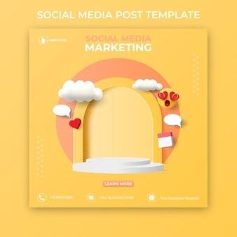 Modello di post sui social media modificabile. banner pubblicitari sui social media.