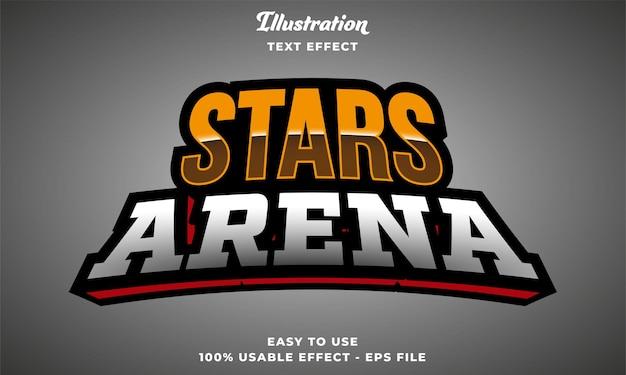 Effetto testo modificabile dell'arena delle stelle
