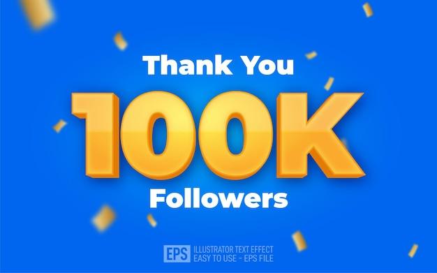 Testo modificabile 100k follower e connessioni sui social media