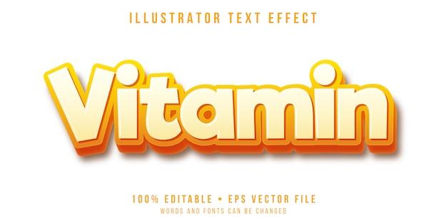Effetto di testo modificabile - stile di testo in grassetto 3d