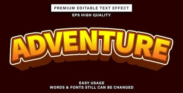Avventura con effetti di testo modificabili