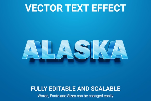Effetto di testo modificabile - stile di testo alaska