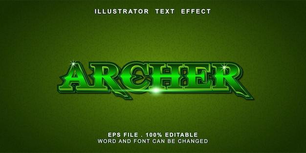 Arciere effetto testo modificabile