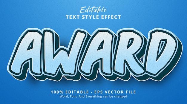 Effetto testo modificabile, testo premio su effetto stile combinazione blu