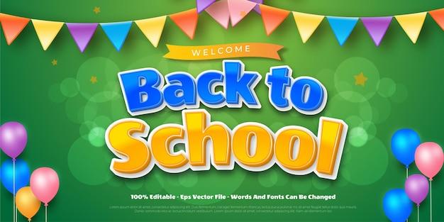 Effetto testo modificabile torna al concetto di banner della scuola school