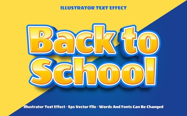 Effetto testo modificabile torna alle illustrazioni in stile scuola
