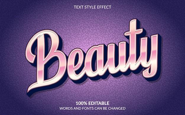 Effetto di testo modificabile, stile di testo di bellezza