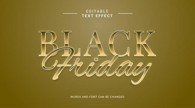 Effetto testo modificabile venerdì nero vendita stile elegante colore oro