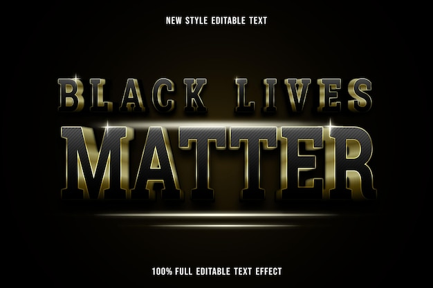 L'effetto di testo modificabile nero vive la materia in nero e oro