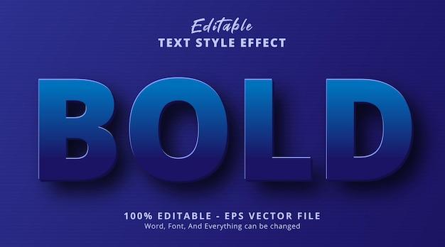 Effetto di testo modificabile, testo in grassetto blu con stile titolo in rilievo