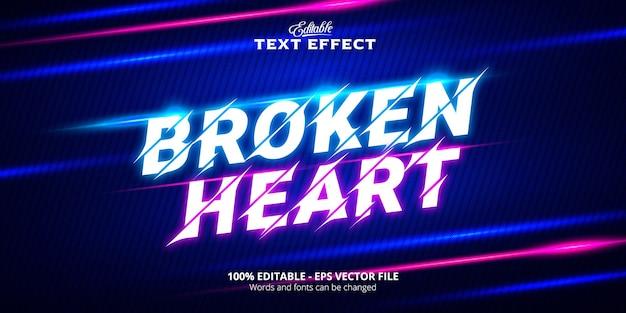 Effetto testo modificabile, testo cuore spezzato