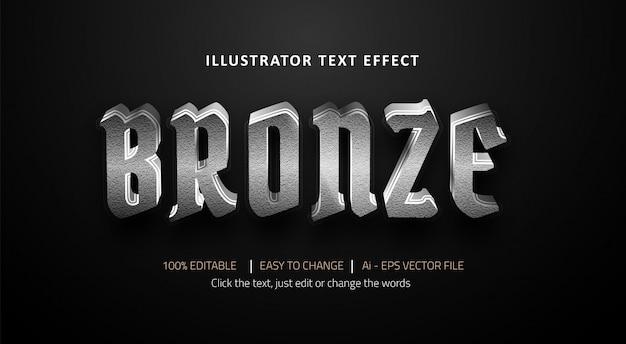 Effetto testo modificabile titolo bronzo premium