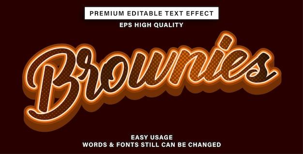 Brownies con effetto testo modificabile