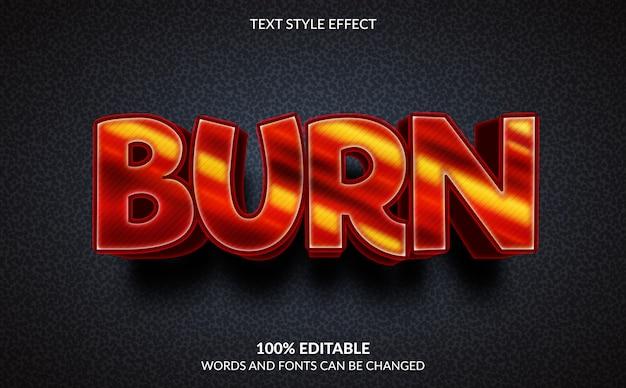 Effetto di testo modificabile, masterizza stile testo