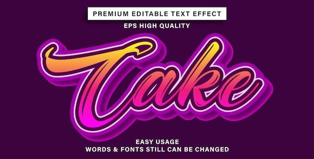 Torta effetto testo modificabile