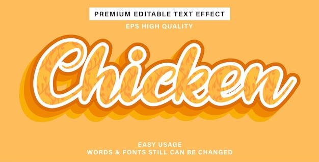 Pollo con effetto testo modificabile