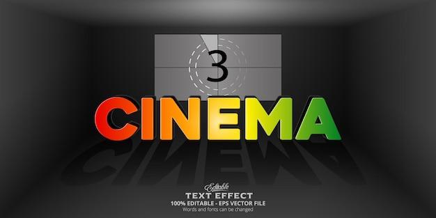Effetto di testo modificabile, testo cinematografico