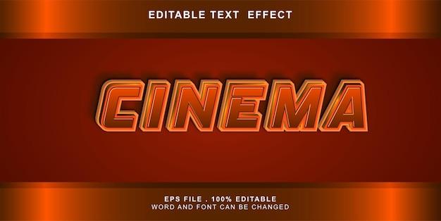 Cinema effetto testo modificabile