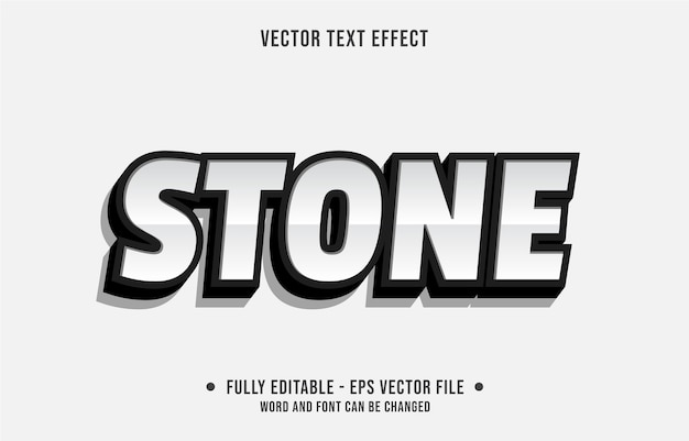 Effetto di testo modificabile pulito stile moderno in pietra