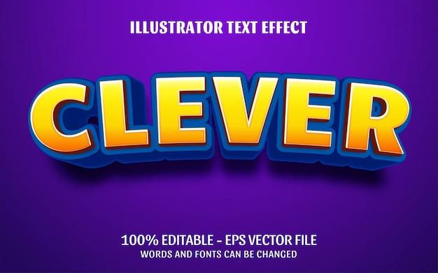 Effetto di testo modificabile, illustrazioni in stile intelligente