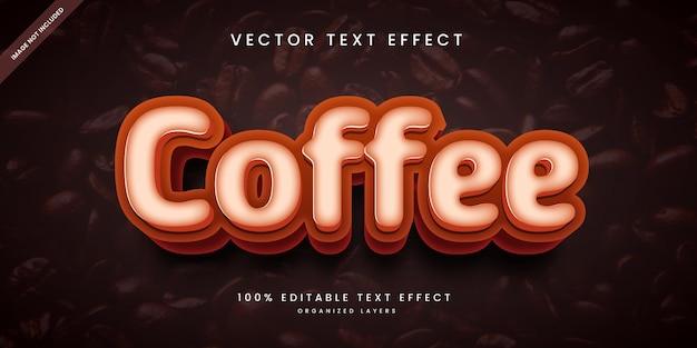 Effetto di testo modificabile in coffee style