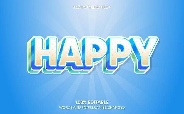Effetto di testo modificabile, stile di testo felice colorato