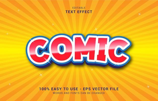Effetto di testo modificabile, stile fumetto comico può essere utilizzato per creare il titolo