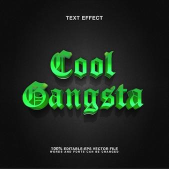 Testo modificabile effetto stile gangsta cool