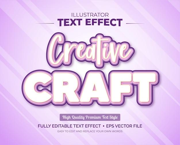 Effetto di testo modificabile - effetto di testo creative craft