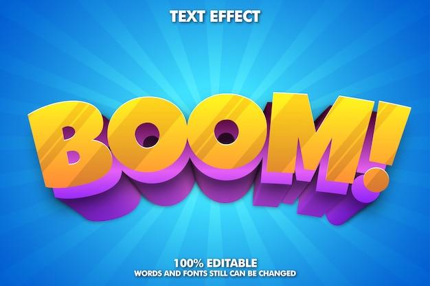 Effetto di testo modificabile, tipografia carina per titolo di cartone animato