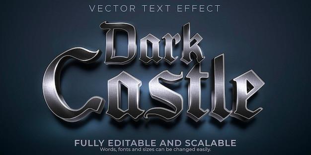 Effetto di testo modificabile stile di testo castello scuro