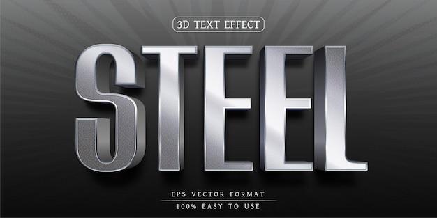 Effetto testo modificabile design carattere elegante