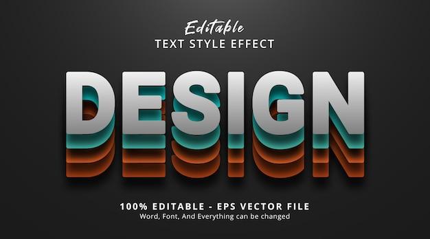 Effetto testo modificabile, testo di design su effetto stile a strati in grassetto