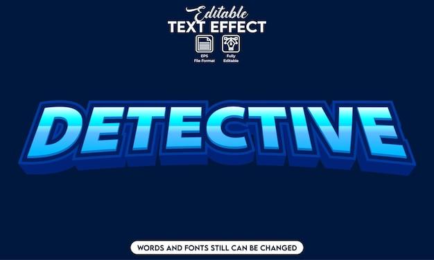 Detective effetto testo modificabile