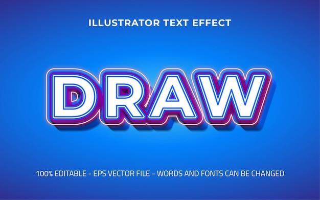 Effetto di testo modificabile, disegnare illustrazioni in stile