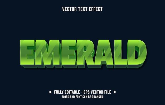 Testo modificabile effetto pietra preziosa smeraldo in stile moderno