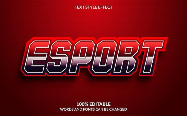 Effetto di testo modificabile, esport text style