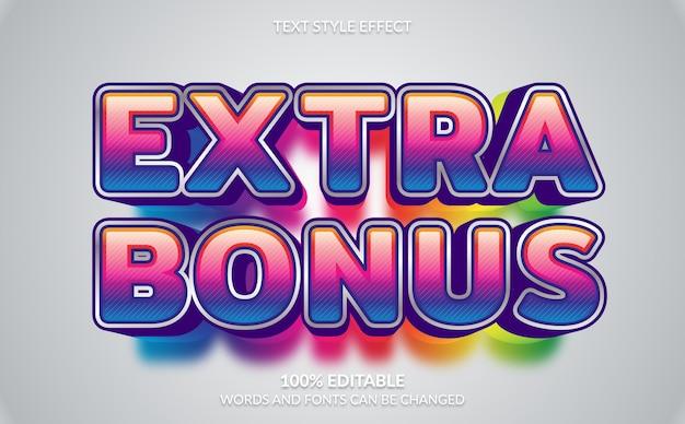 Effetto testo modificabile, stile di testo extra bonus